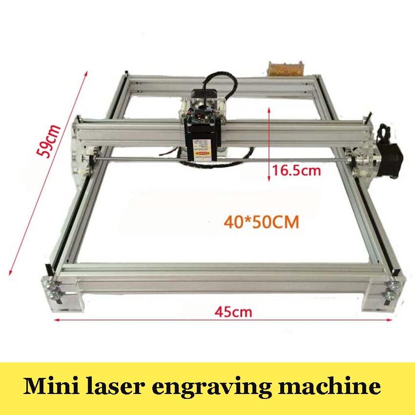1 шт. большая площадь лазерная гравировка машины 5500 МВт DIY Лазерный Гравер IC принтер, маркировка Вырезка размер 40 X50CM