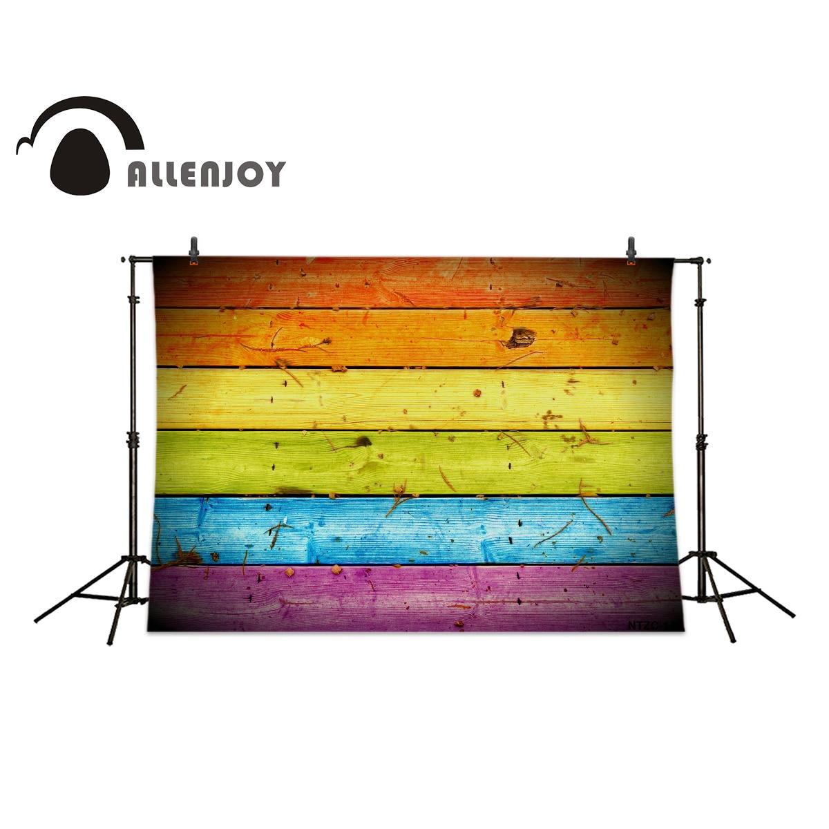 Allenjoy photography backdrops Bright colors floor wood brick wall ...