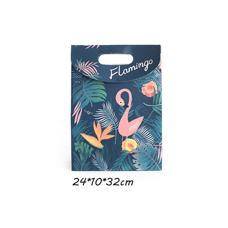 Flamingo paper Cookies chocolate Candy box Gift Bag outdoor Wedding birthday bridal baby shower Gender Reveal Decoration package 6