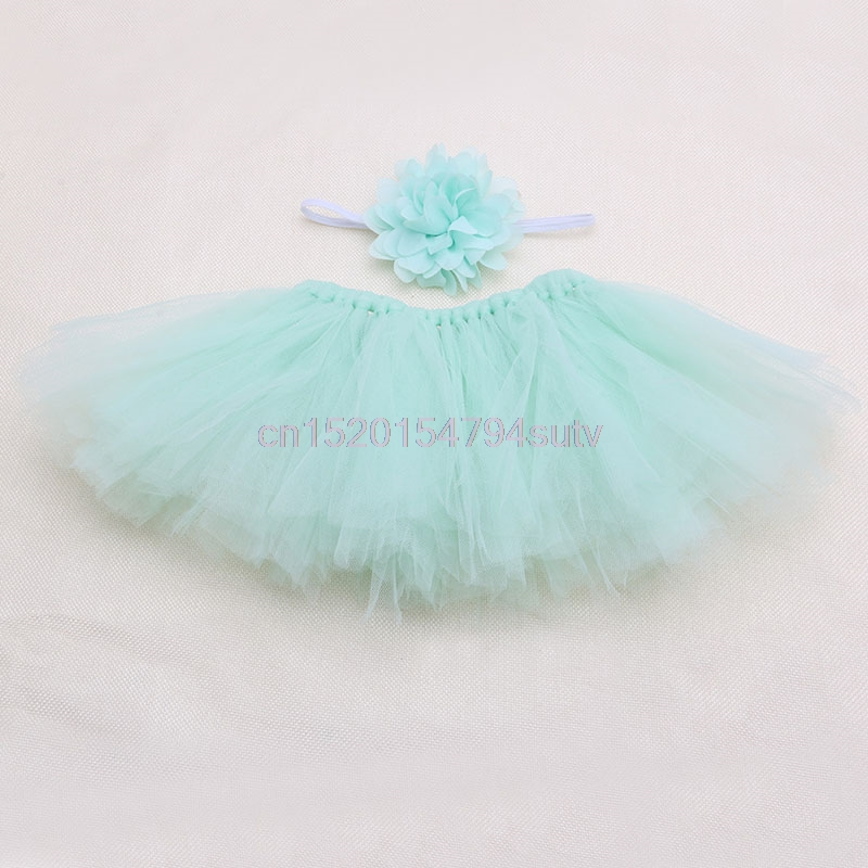 Baby-Tutu-Clothes-Skirt-Newborn-Headdress-Flower-Girls-Photo-Prop-Outfits-h055-3