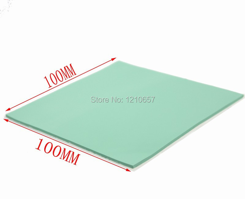 2 Pieces 100 X 100 X 2mm Green Thermal Pad Silicon Heatsink Cooling Conductive Gpu Cpu Delaying Senility
