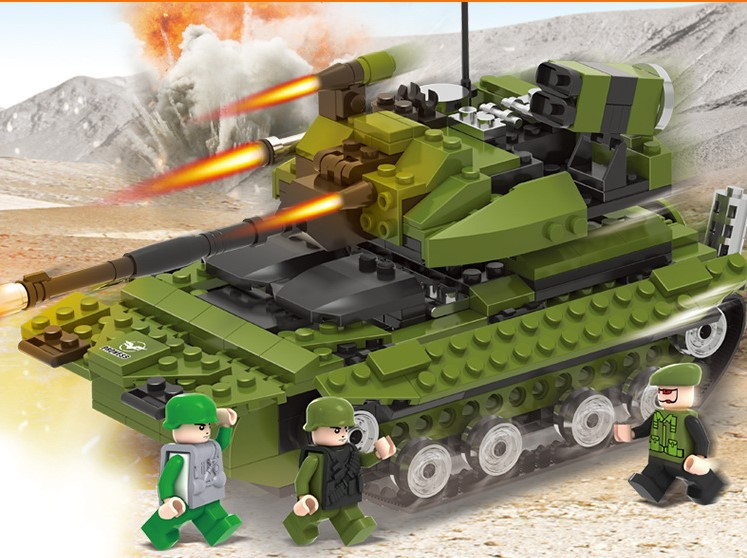 Army Toys For Boys : Military army building blocks set armed tank toys for kids