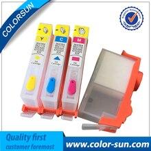 4 de color con la viruta DEL ARCO para HP 655 Cartucho De Tinta recargable HP655 para HP Deskjet Ink Advantage 3525 4615 4625 5525 6520 6525 6625