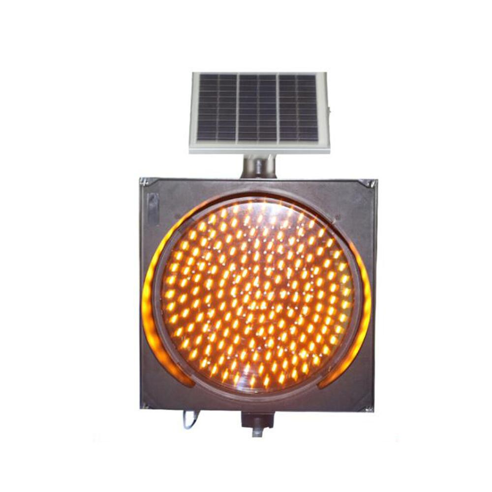 Solar LED Traffic Light LED Sign Yellow Strobe Light ASLLED Construction Work Warning Light