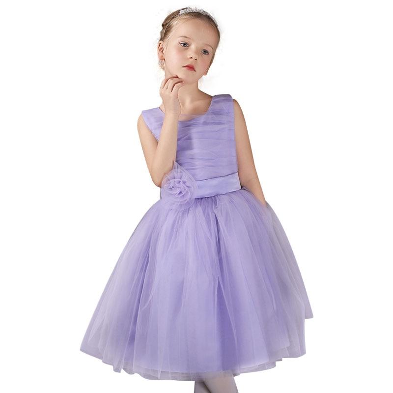 girls party wear dress kids 2016 flower lace children girls elegant ...