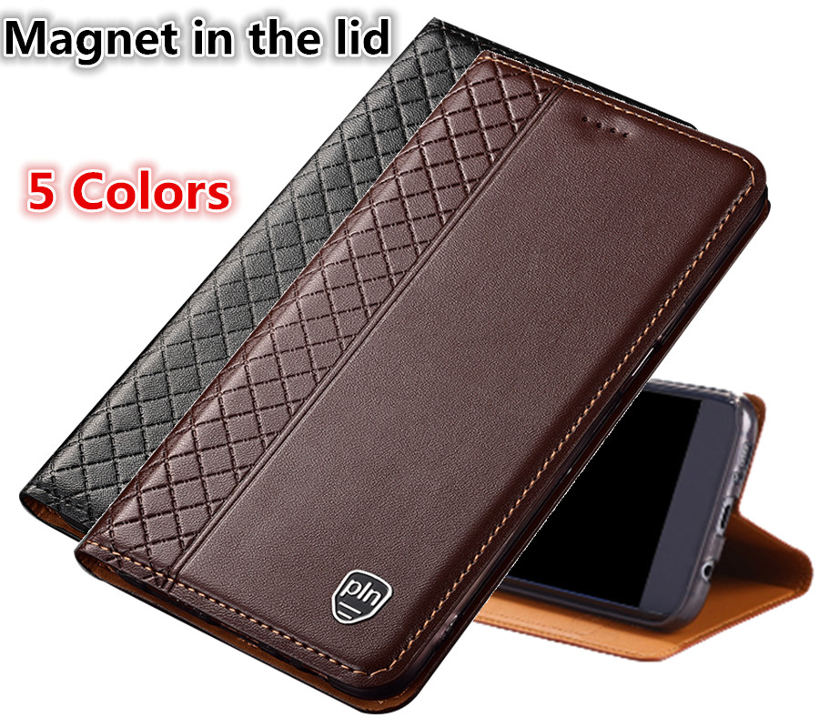 LJ04 Genuine Leather Phone Case With Card Holder For HTC U Play(5.2') Case For HTC U Play Phone Bag Free Shipping