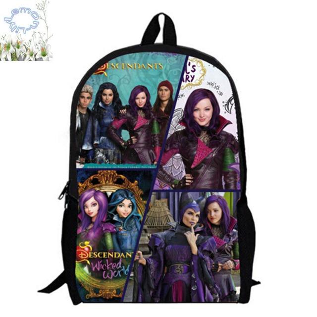 c168ef37044 16Inch Descendants Backpack Customized Game Mochila Feminina Children  School Bag Mochila Escolar Teenage Gift Free Shipping A041