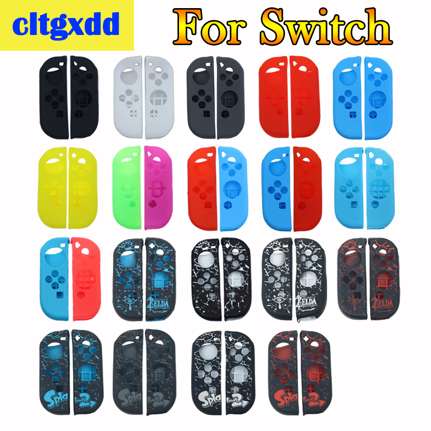 Cltgxdd Red Green Rose Neon Yellow Soft Cover For Nintend Switch JOY CON Soft Silicone Protective Skin Case Anti Slip Sleeve