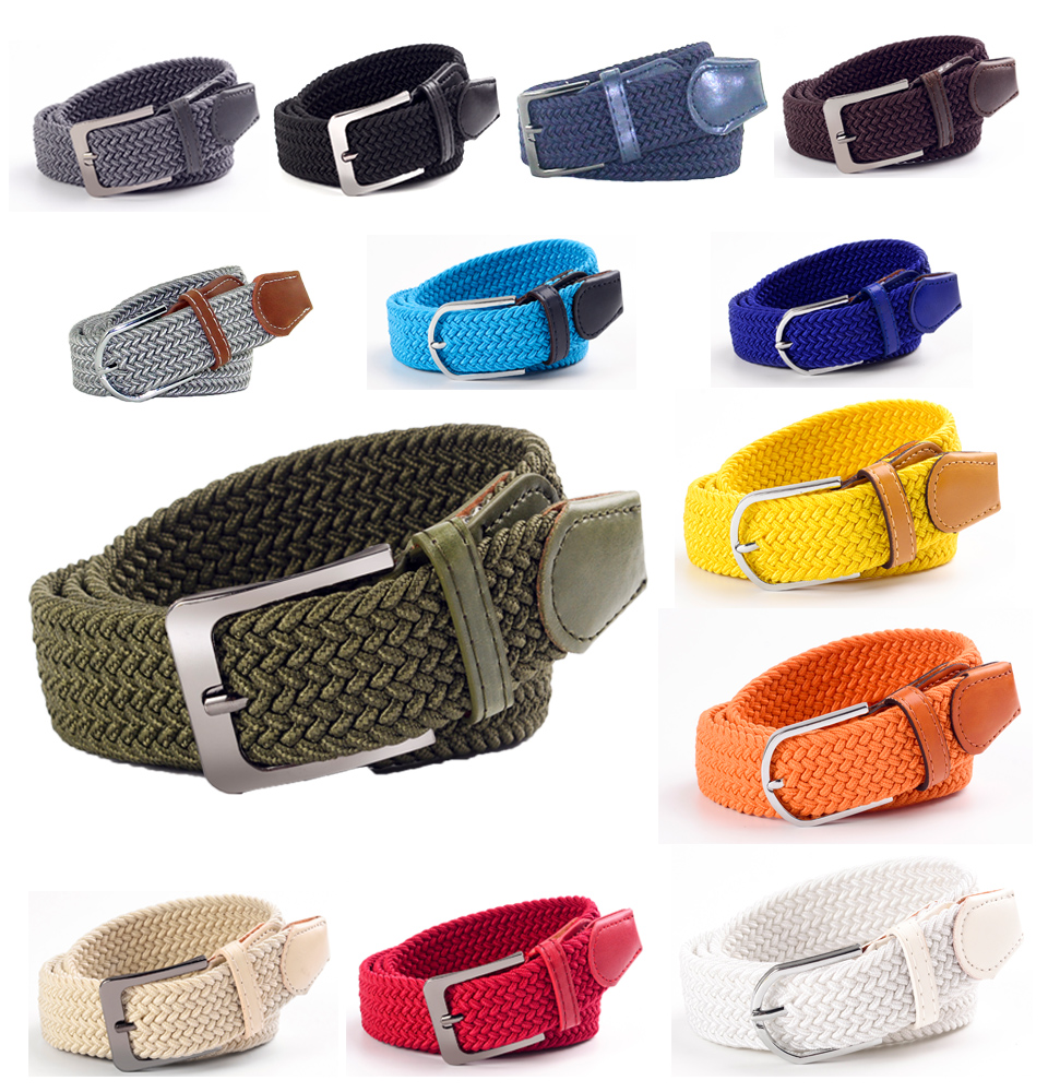2019 ITSSIBUK Hot New Fashion Men And Women Universal Leisure Elastic Woven   Belt   105-110cm