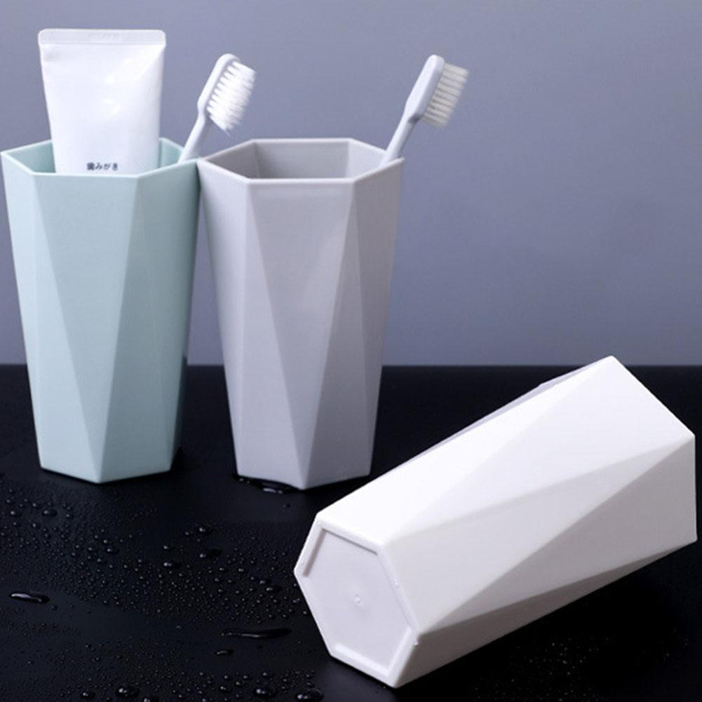 Nordic Plastic Cup Tooth Mug Toothbrush Holder Washing Drinking Home Bathroom Tooth Mug Lightweight Household