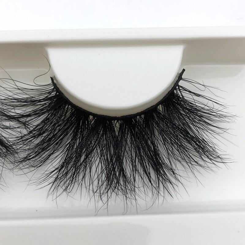 Mikiwi 25mm Long 3D mink lashes E01 extra length mink eyelashes Big dramatic volumn eyelashes strip