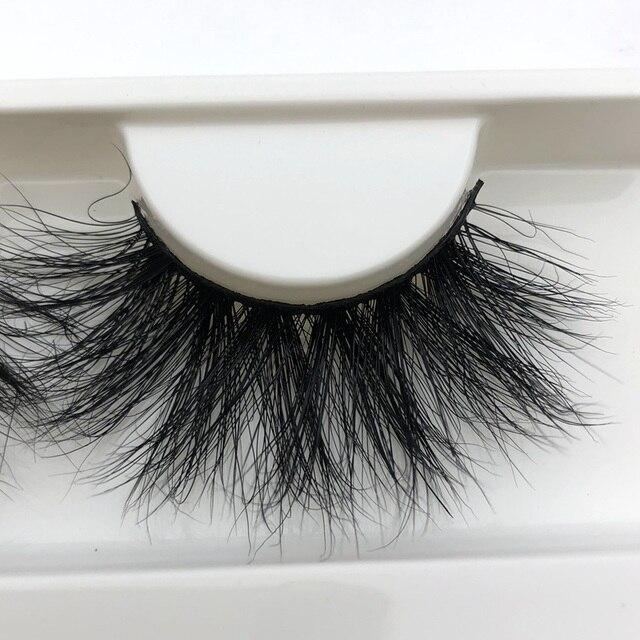 Mikiwi 25mm Long 3D mink lashes E01 extra length mink eyelashes Big dramatic volumn eyelashes strip thick false eyelash 2
