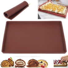 1Pc New Silicone Baking Mat Bakeware Dishes Pastry Tray Oven Rolling Kitchen Sheet Cake Pan