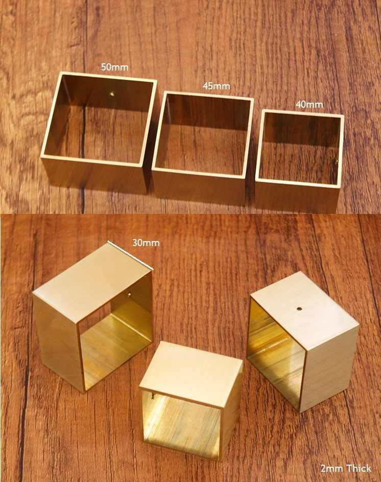 4 шт./партия квадратный латунный наконечник колпачок для современных настольных ног, сменные ножки, крышка для дивана