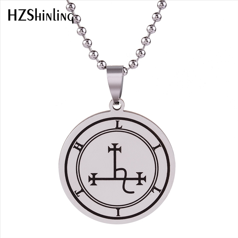 Details about Symbol of Lilith Stainless Steel Pendant Necklace Talisman  Protection Sigil Lili