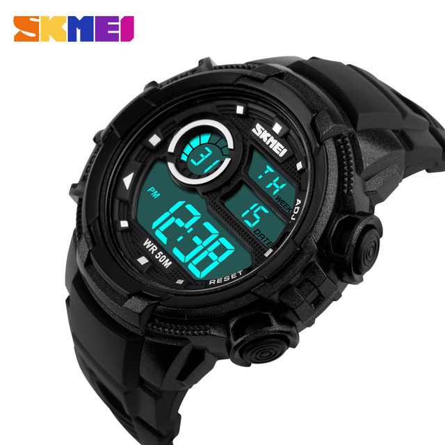 Hot 2017 New Skmei Brand Men Sports Watches Digital LED Military Watch 50M Dive Swim Dress Outdoor Fashion Casual Wristwatches