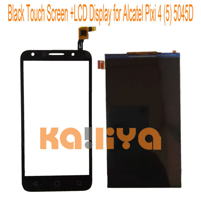 For Alcatel One Touch Pixi 4(5) 5045 5045D 5.0''  Black Touch Screen+LCD Display Touch Panel Digiziter