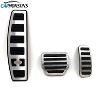 Carmonsons Stainless Steel Gas Fuel Brake Foot Rest Pedal Pads Cover For Land Rover Discovery 3