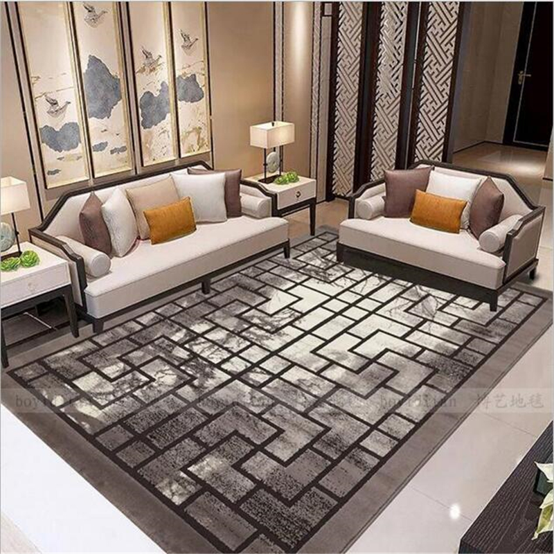 200X300cm Chinese Classcial Style Polypropylene Delicate Soft Large Carpet For Living Room Bedroom Fashion Rug Home Floor Mat