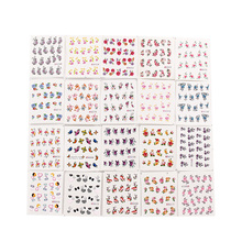 50Pcs/lot Assorted designs Nail Art Stickers Water Transfer Nail Art Decals Nails Wraps Temporary Tattoos Nail Tools Randomly