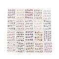 50 Unids/lote Assorted designs Nail Art Stickers Transferencia de Agua Calcomanías de Uñas de Arte Herramientas de Uñas Nail Wraps Tatuajes Temporales Al Azar