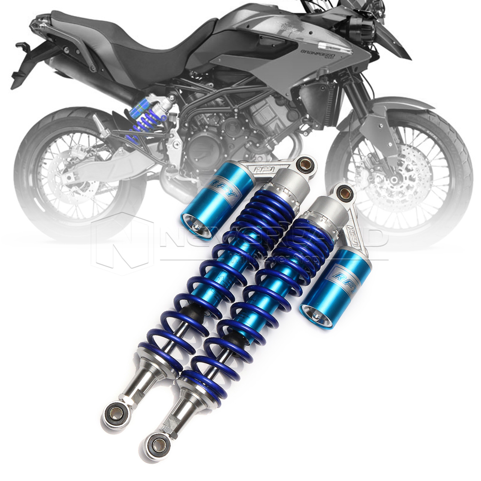 Universal 15 3/4 400mm Motorcycle Air Shock Absorber Rear Suspension Spring Damper Replacement For Yamaha YFZ450 Blue D25 for motorcycle yamaha yfz450 yfz 450 black motorcycle bike rear 1 3 5 lowering kit