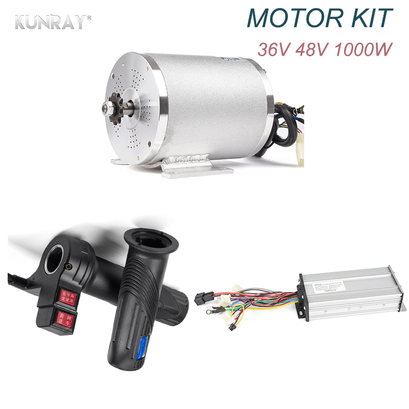 Electric Scooter 36V 48V 1000W Brushless DC Motor, For Electric Vehicle, With BLDC Controller Universal Throttle Electric Parts