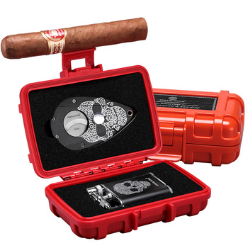 CIGARLOONG cigar lighter set Multifunction sealed box with cigar cutter and lighter CQ-0130