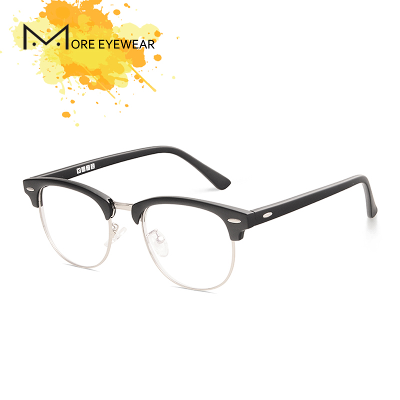 2018 Fashion Classic Wayframe Prescription Glasses With Optical Lens For Women and Man TR90 Frame Vintage Acetate Eyeglasses