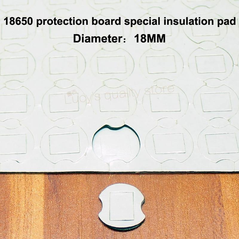50 pcs/lot 18650 batterie au lithium paquet haute température isolation joint panneau de protection double face en caoutchouc tapis d'isolation