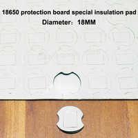 50 teile/los 18650 lithium-akku hochtemperaturisolierung dichtung schutz bord doppelseitige gummi isolierung matte