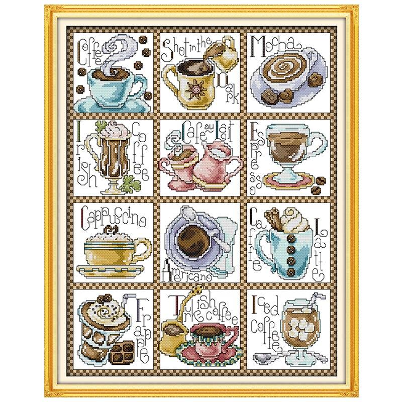④Diciembre café contados Cruz puntada 11ct 14ct Cruz puntada Sets ...