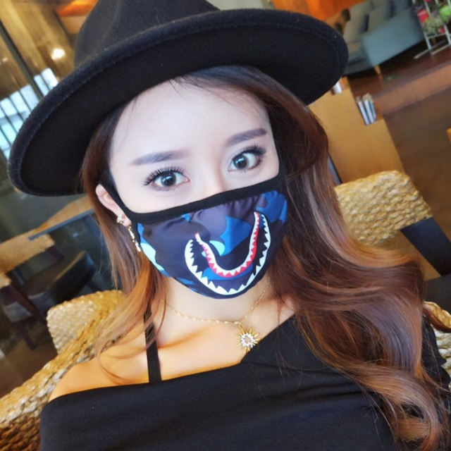 Shark Mouth Anti-Fog Flu Face Masks Unisex  Respirator Mouth-muffle Mask 4