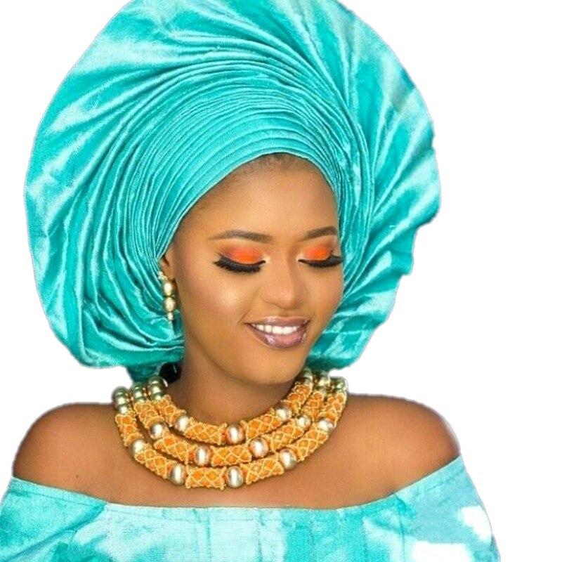 Dudo Orange Incroyable Perles Africaines ensembles de bijoux rouleaux de ruban Ensemble De Mariage Nigérian Nuptiale 3 Photos Ensembles Livraison Gratuite 2018 Or