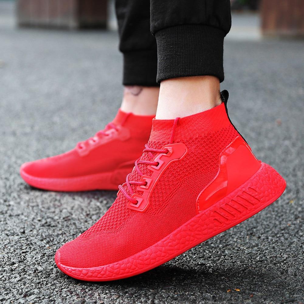 watermelon Sneakers Noir Marche Respirant Casual Lumière up Homme De Mode Course 2019 rouge Loisirs Sport vert Dentelle Plat Hommes Chaussures Red 6gnHF