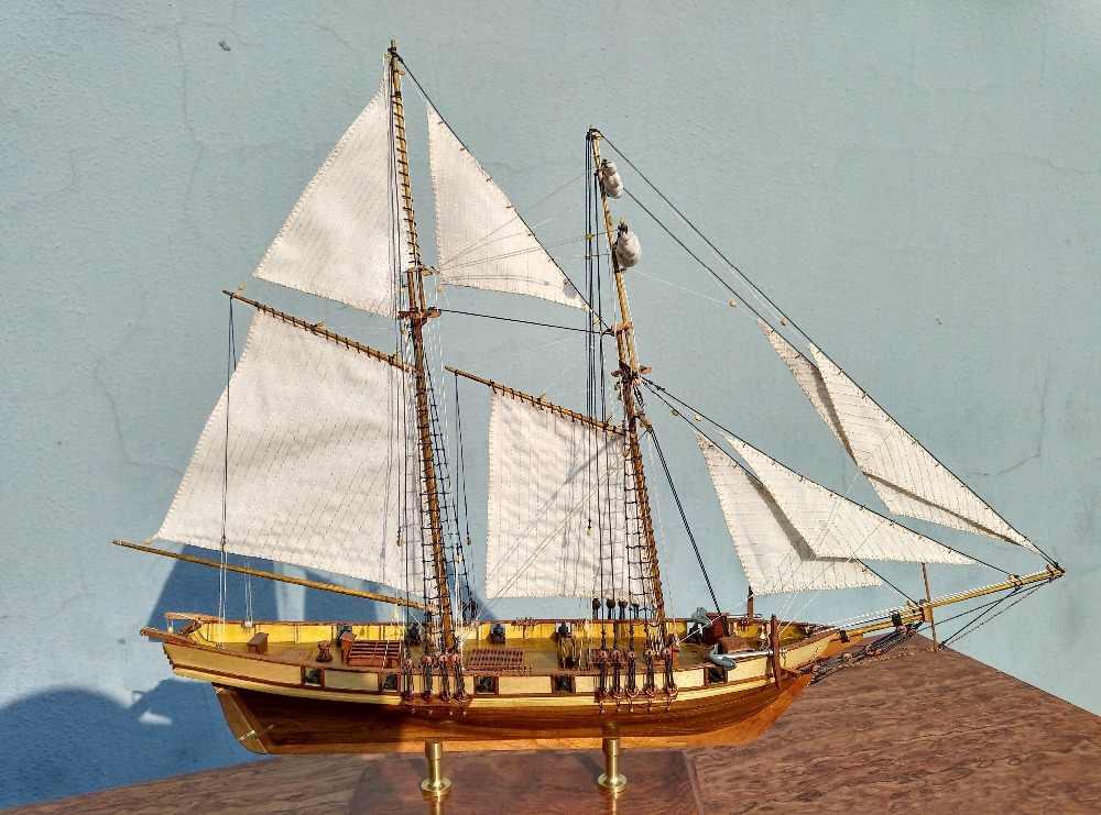 NIDALE model Free shipping Scale 1/96 Classics Antique Battleship wooden model kits HARVEY 1847 wooden Sailboat model