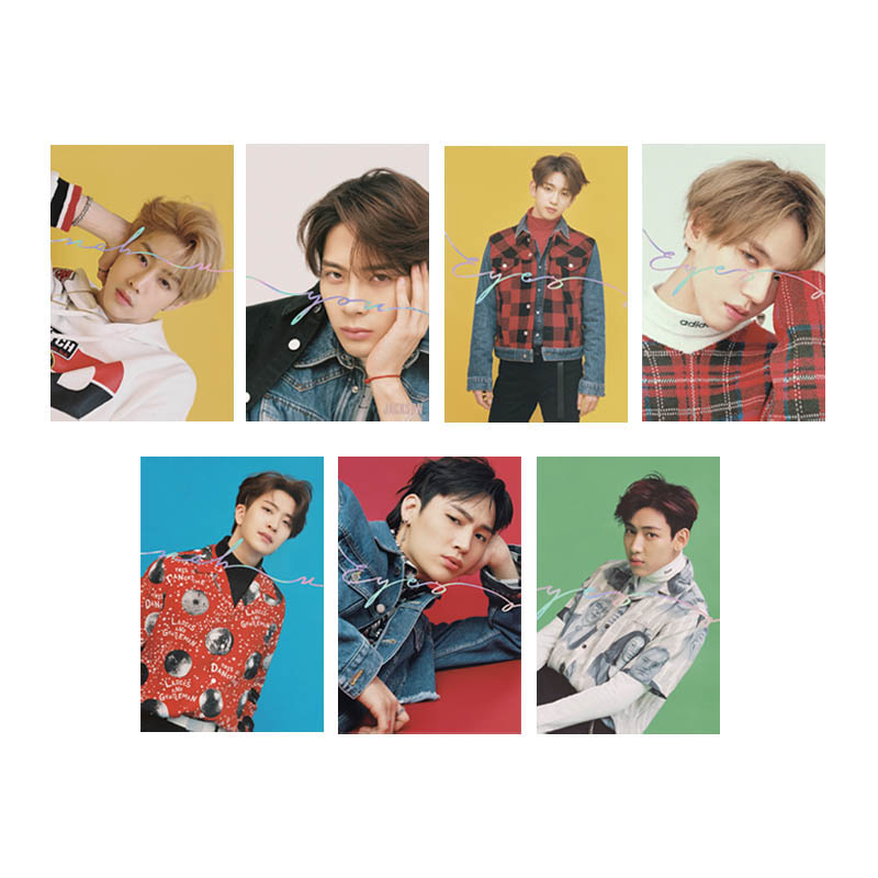 Youpop Kpop Got7 Eyes On You Album Transparent Photo Card Pvc Cards Self Made Lomo Card Photocard Xk548 Waterproof Beads & Jewelry Making Shock-Resistant And Antimagnetic