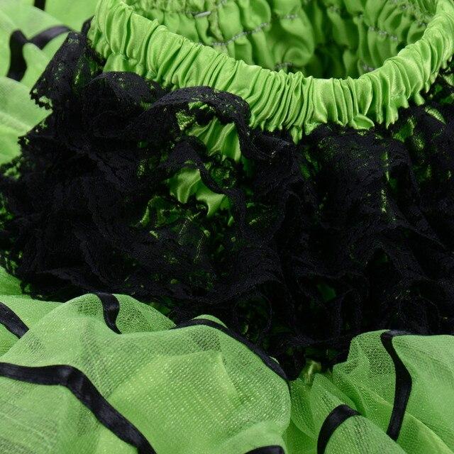 Little Girl Tutu Skirt Black Lace High Waist Circular Pettiskirt 80s Rock N Roll Tulle Pleated Underskirt Kids Ballerina Skirt