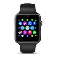 Nowy Bluetooth smart watch IWO 1 1 MTK2502C urządzenia przenośne wsparcie Sync Notifier karty SIM dla Apple Ios Iphone telefonów z systemem Android tanie tanio Elektroniczny Passometer Czas światowy Uśpienia tracker Stały Kalendarz Tracker fitness Wiadomość przypomnienie Wybierania połączeń