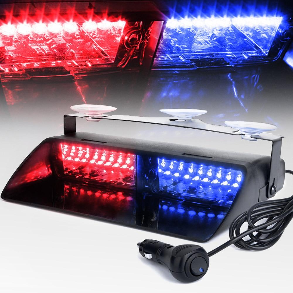 truck 16 LED Red//White fire police Strobe Flash Light Dash Emergency Light 12v