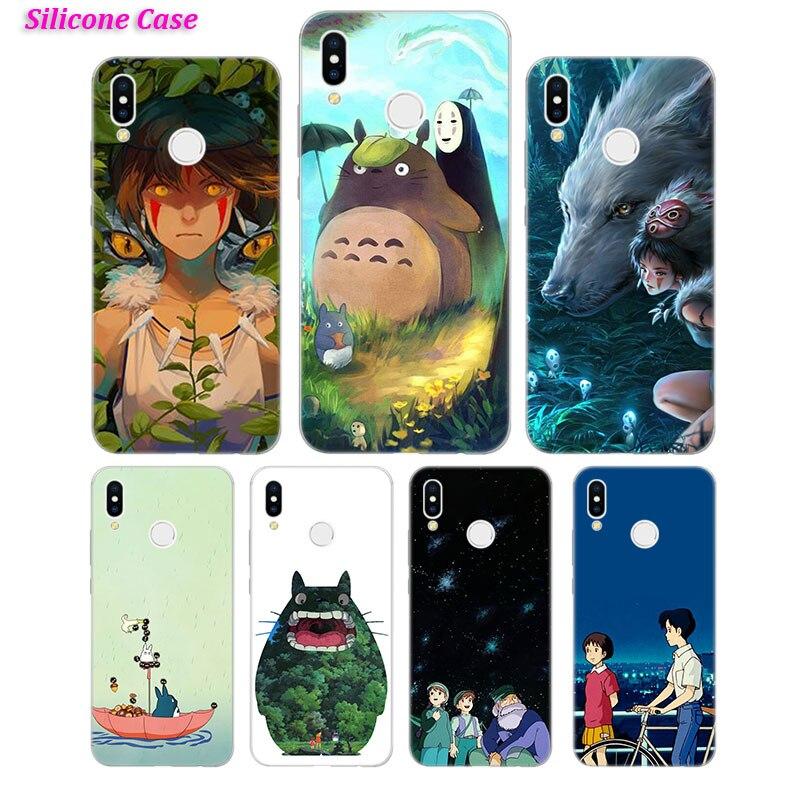 Silicone Case Cute Studio Ghibli for Huawei P Smart 2019 Plus P30 P20 P10 P9 P8 Lite Mate 20 10 Pro Lite Nova 3i Cover