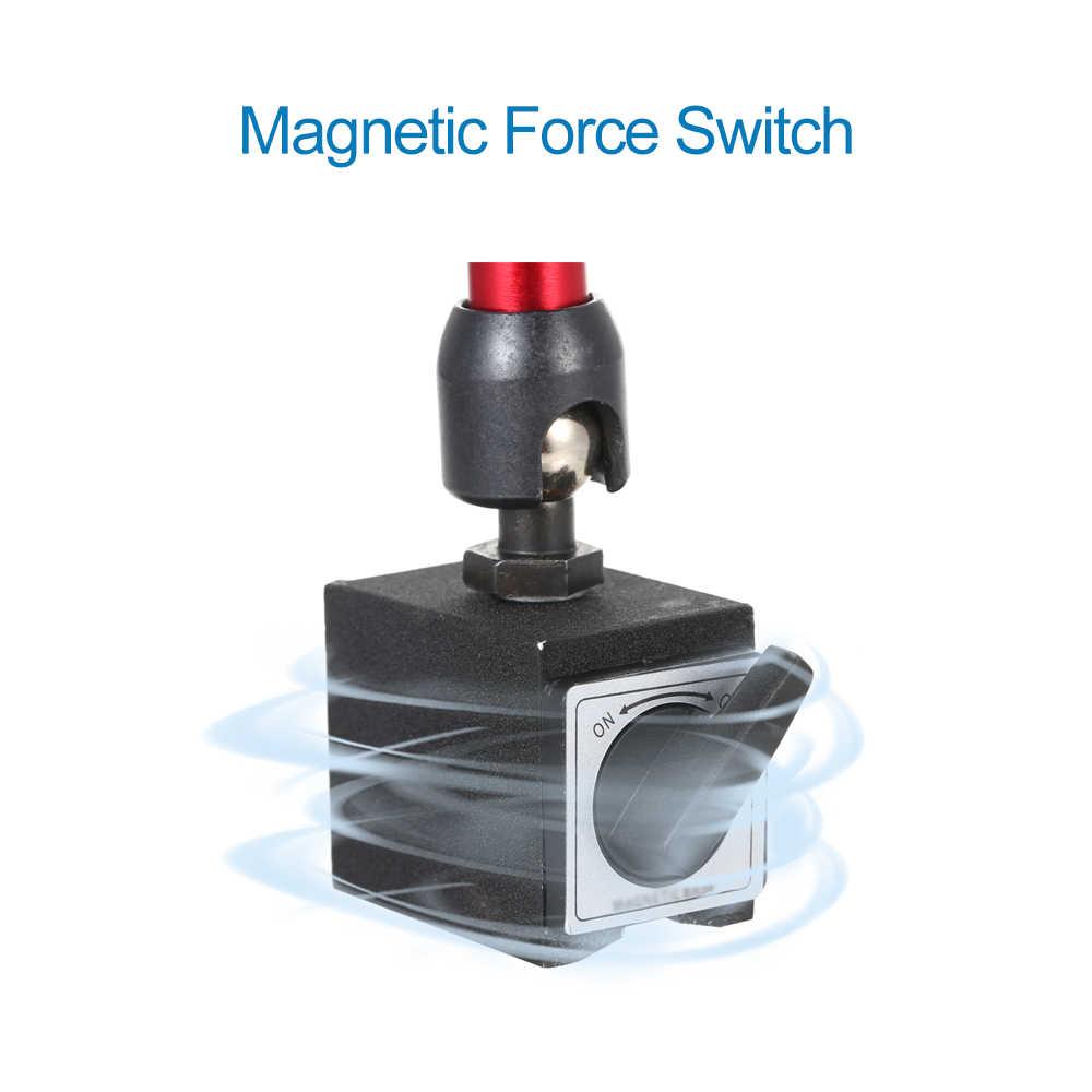 Mini Dial Indicator Magnetische Base Houder 360 Rotatie Flexibele Beugel met Verstelbare Pole Magnetische Kracht Schakelaar voor Leverage
