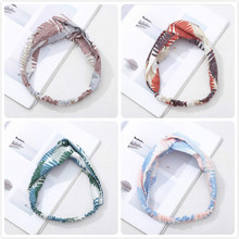 Women Headband bohemian styles Fashion Prints Elastic Hair Bands Cross Knot Soft Girls Hairband Accessories