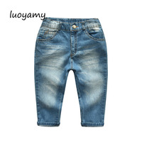 luoyamy 2018 Autumn Winter New Design Boy's Pants High Quality Children's Solid Comfortable Jeans Solid Kid Clothes