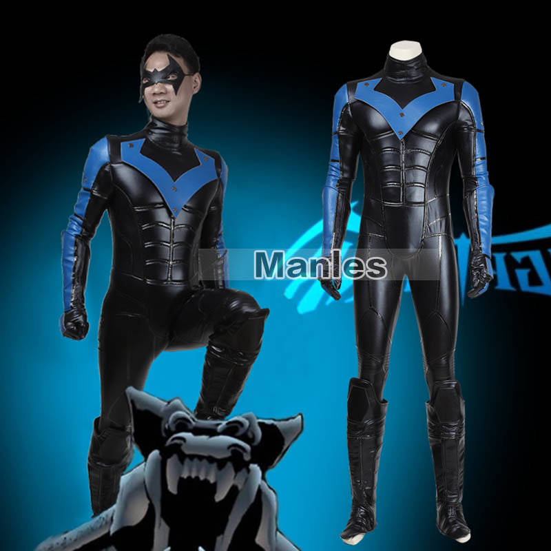Costume Adult Cosplay Halloween Christmas Costume Carnival Cosplay Jumpsuit Adult Men Leather With Mask Party Suit Outfit