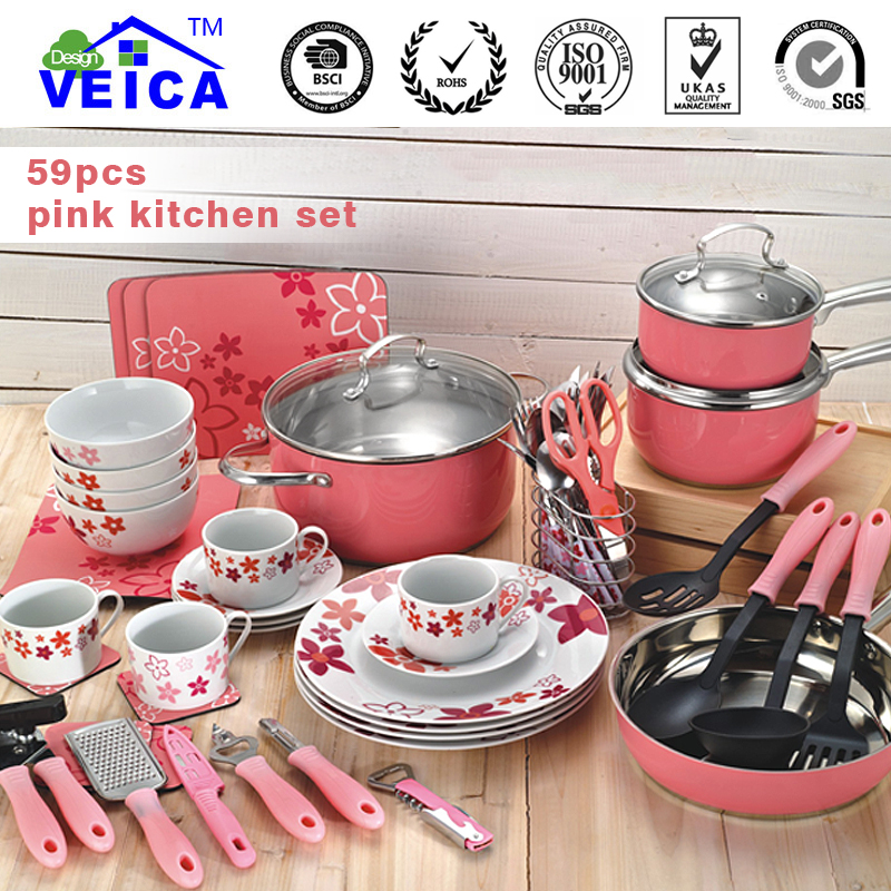 59 Piece Cooking Tools Kitchen Utensils Set Cookware Set Home