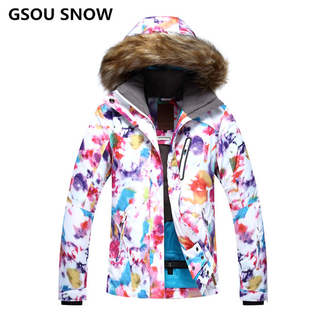 talla 40 36ff3 3a3e3 US $159.9 |2018 GS snowboard jacket wintersport snow coat waterproof veste  ski femme outdoor clothing chaqueta nieve mujer-in Skiing Jackets from ...