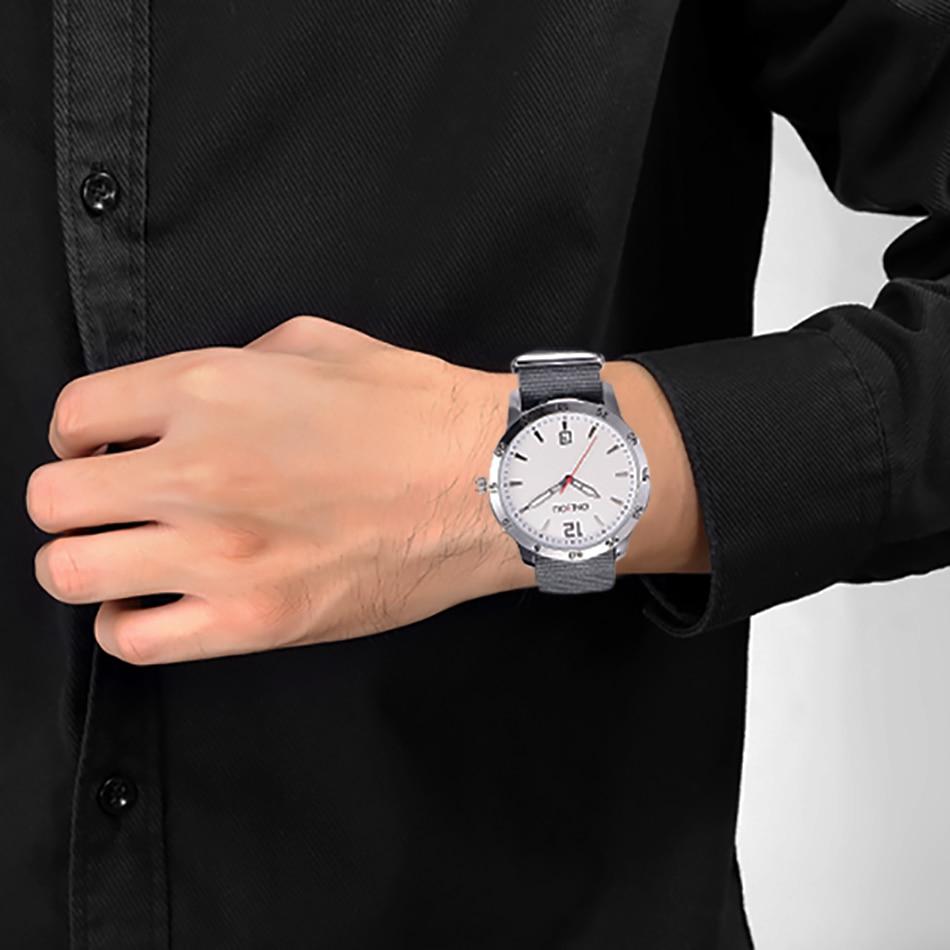 ONLYOU Charm Reloj de moda Casual Nylon Banda de reloj Relojes de - Relojes para hombres - foto 6