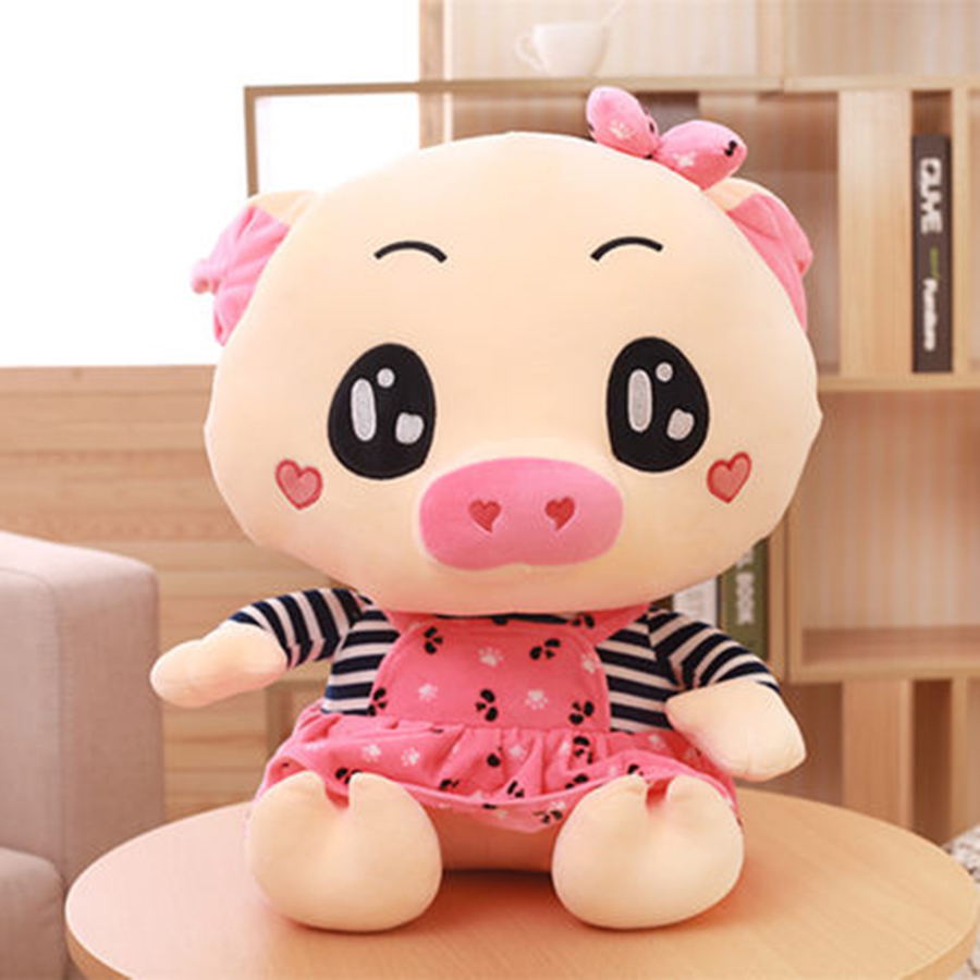 Cute Plush Toy Kawaii Pink Pig Plush Doll Baby Lovely Hugging Pig Toy Dolls Peluches De Animales  Children Birthday Gift 70C0057