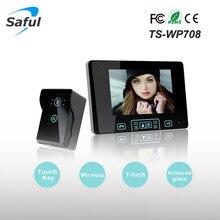 7″ TFT Wireless Video Door Phone Intercom System 2.4GHz Digital with 1 Monitor Doorbell Camera Doorbell Free Shipping